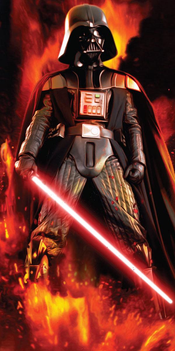 Jerry Fabrics Dětská osuška Star Wars Darth Vader bavlna-froté 70x140 cm