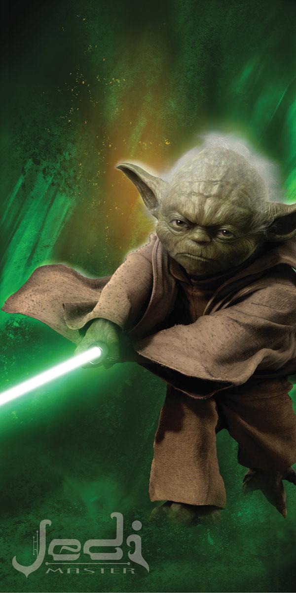Jerry Fabrics Osuška Star Wars Yoda bavlna-froté 75x150 cm