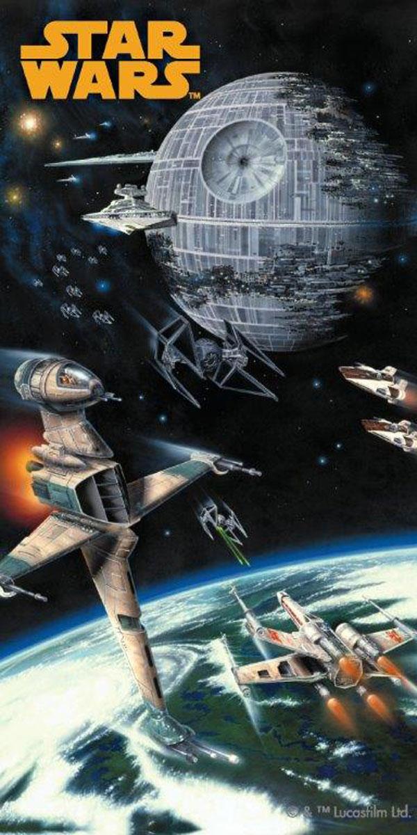 Jerry Fabrics Osuška Star Wars Spaceships bavlna-froté 75x150 cm