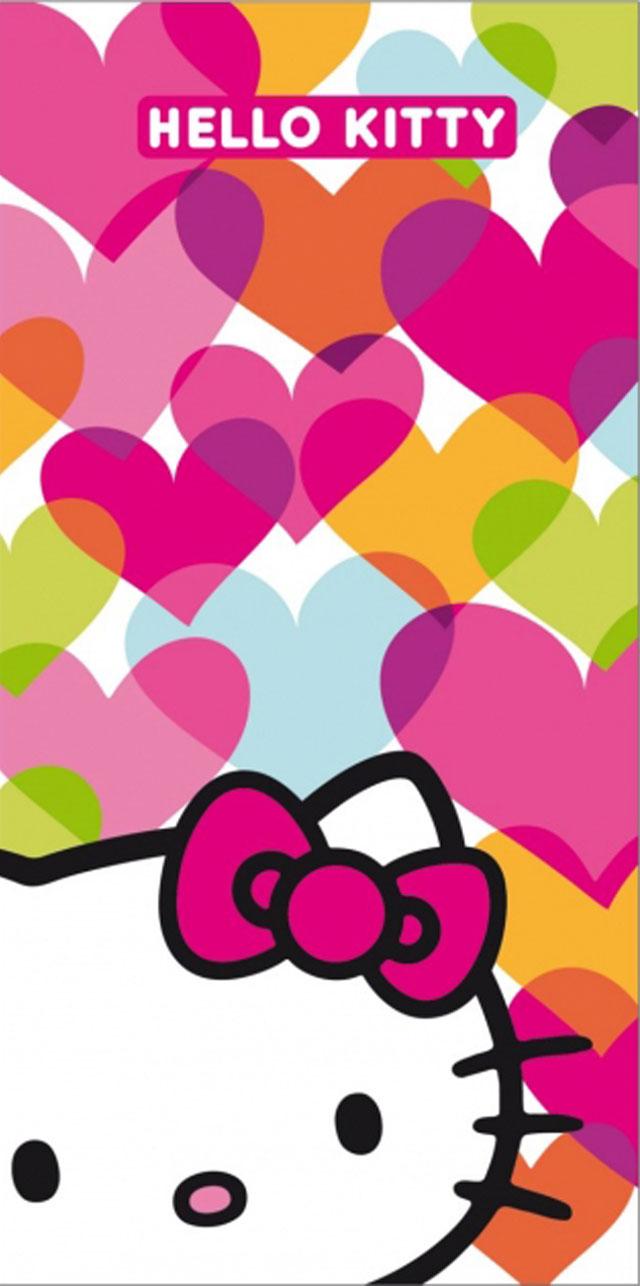 CTI Dětská osuška Hello Kitty Mimi Love bavlna-froté 75x150 cm