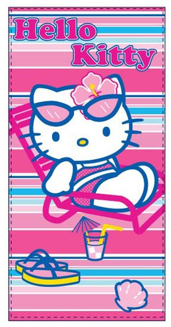 Sun City Osuška Hello Kitty moře froté 70x140 cm