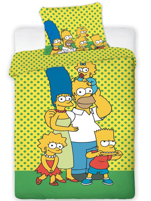 Jerry Fabrics Povlečení Simpsons yellow bavlna 140x200 + 70x90 cm