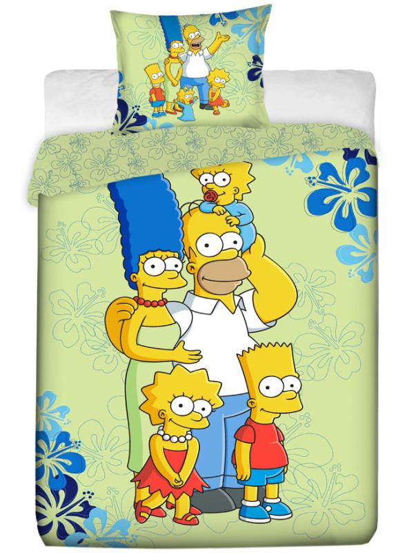 Jerry Fabrics Povlečení Simpsons family 2016 bavlna 140x200 + 70x90 cm