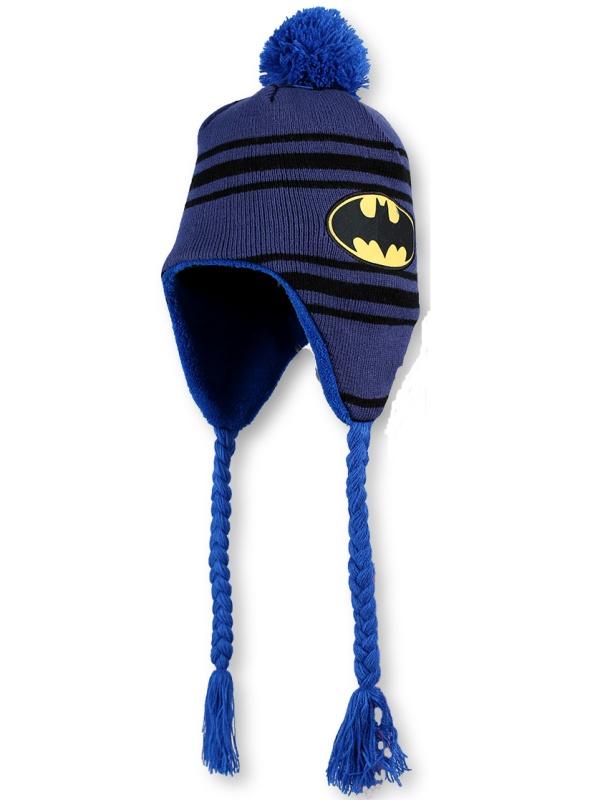 Setino Dětská chlapecká zimní čepice Batman sv. modrá