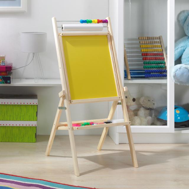 3toys Otočná dětská tabule - žlutá