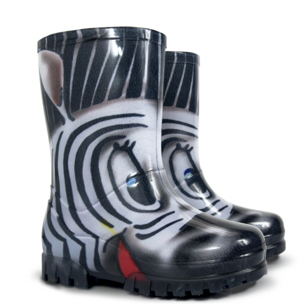 Dětské holinky Demar Twister Print S zebra 20/21
