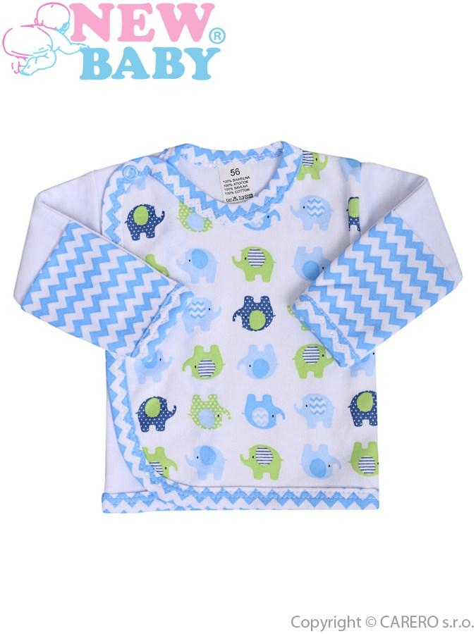 Kojenecká košilka New Baby Sloník bílo-modrá, vel. 62