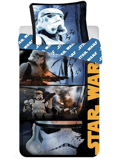 Jerry Fabrics Povlečení Star Wars Stormtroopers bavlna 140x200 + 70x90 cm