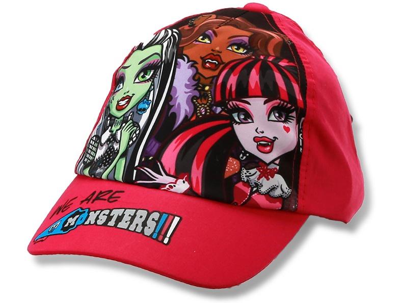 Dětská dívčí kšiltovka Monster High Setino 770-758 červená, vel. 54
