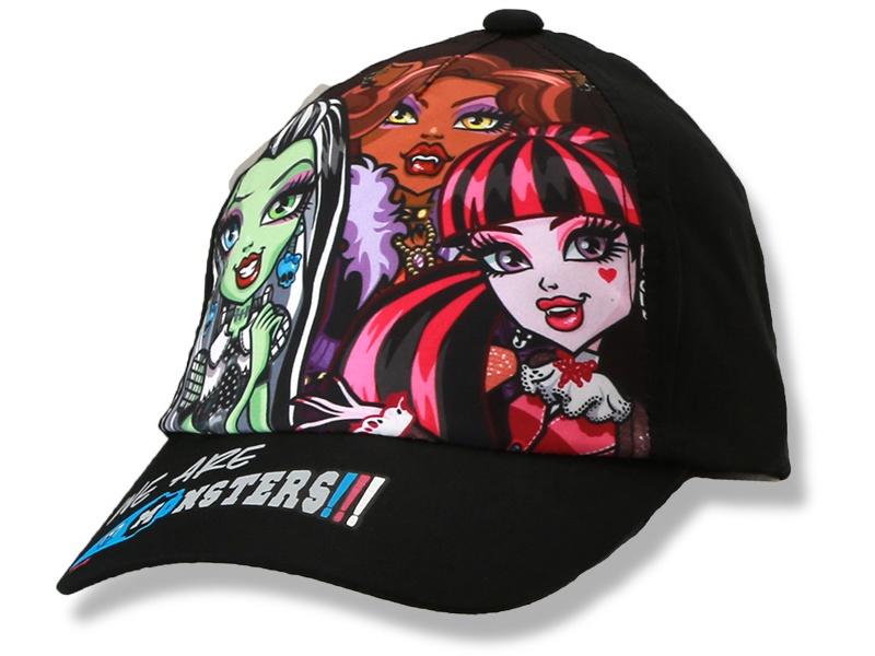 Dětská dívčí kšiltovka Monster High Setino 770-758 černá, vel. 54