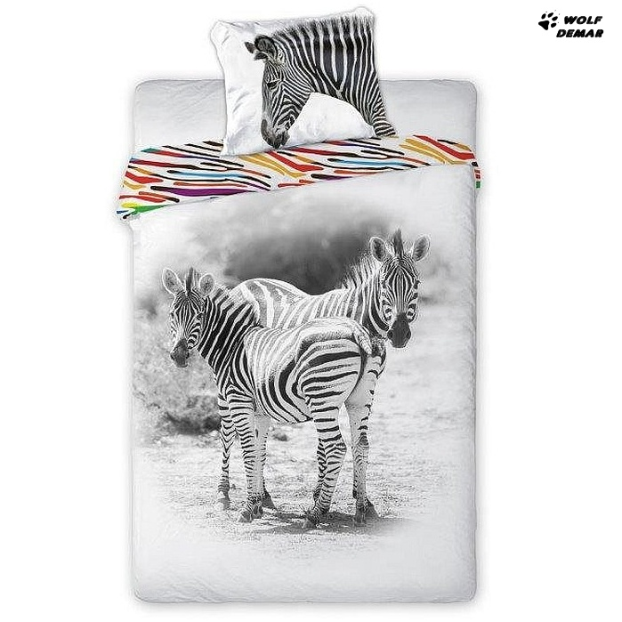 Faro Povlečení Zebra bavlna 140x200 + 70x90 cm
