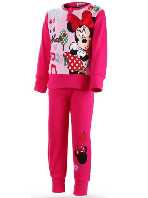 Dětské dívčí pyžamo Setino Minnie Mouse 830-954 Tmavě růžové vel. 128