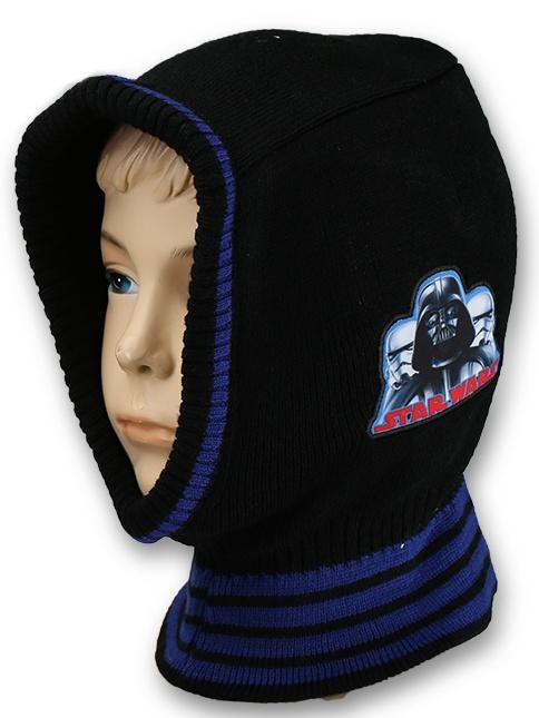 Dětská chlapecká čepice - kukla Setino 770-913 Star Wars tmavě modrá
