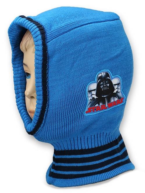 Dětská chlapecká čepice - kukla Setino 770-913 Star Wars světle modrá