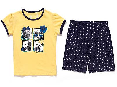 Dětské dívčí letní pyžamo Wolf S2666 Žluté, vel. 110