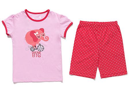 Dětské dívčí letní pyžamo Wolf S2666 Růžové, vel. 110