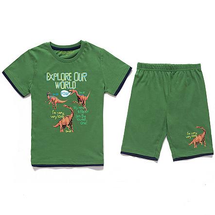 Dětské chlapecké letní pyžamo Wolf S2664 Zelené, vel. 110