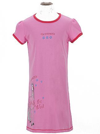 Dětská dívčí noční košile Wolf S2657 růžová, vel. 134