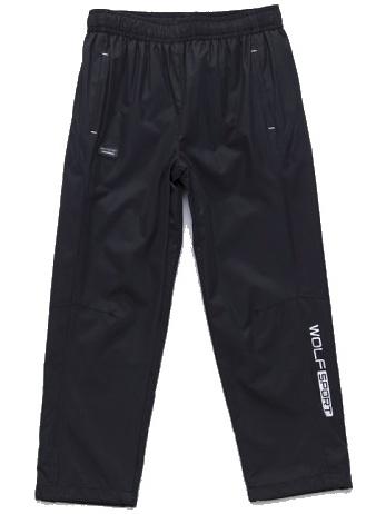 Dětské šusťákové kalhoty Wolf T2751 černé, vel. 128