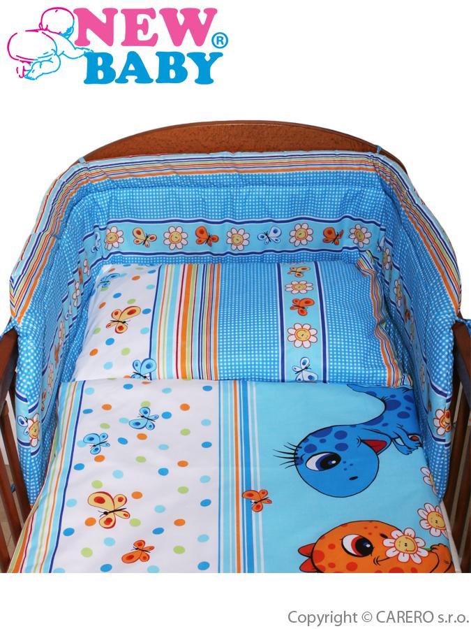 2-dílné ložní povlečení New Baby 90x120 cm modré s dinem