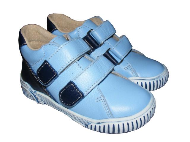 Dětská kožená celoroční obuv Jonap 015M modré, vel. 20