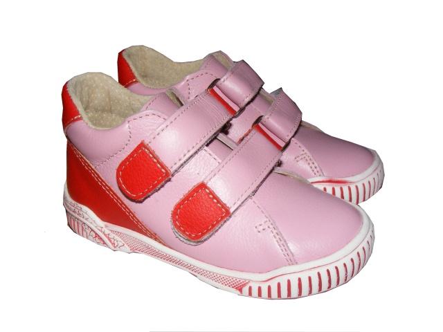 Dětská kožená celoroční obuv Jonap 015M růžové, vel. 20