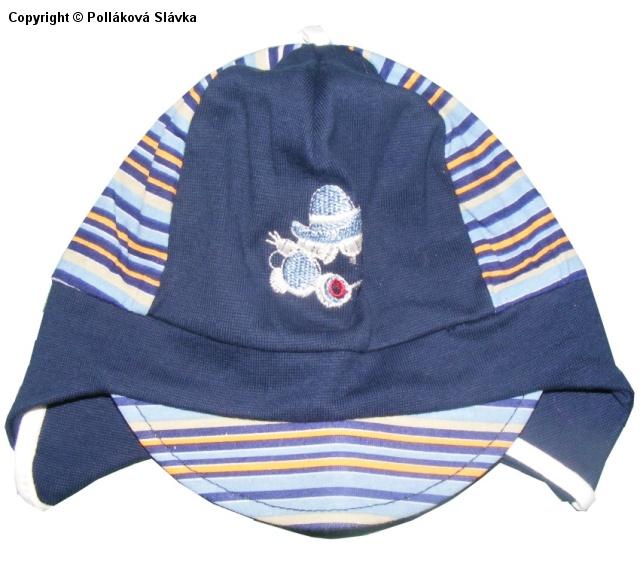 Dětská chlapecká čepice Highlander Auto tm. modrá, vel. 42-44 cm