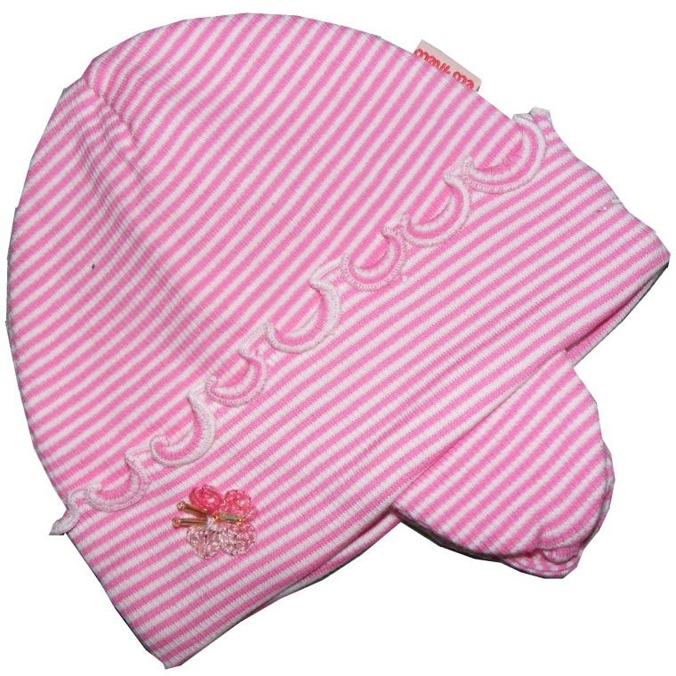 Dětská dívčí čepice Elo Melo motýl tm. růžová, vel. 34-36 cm