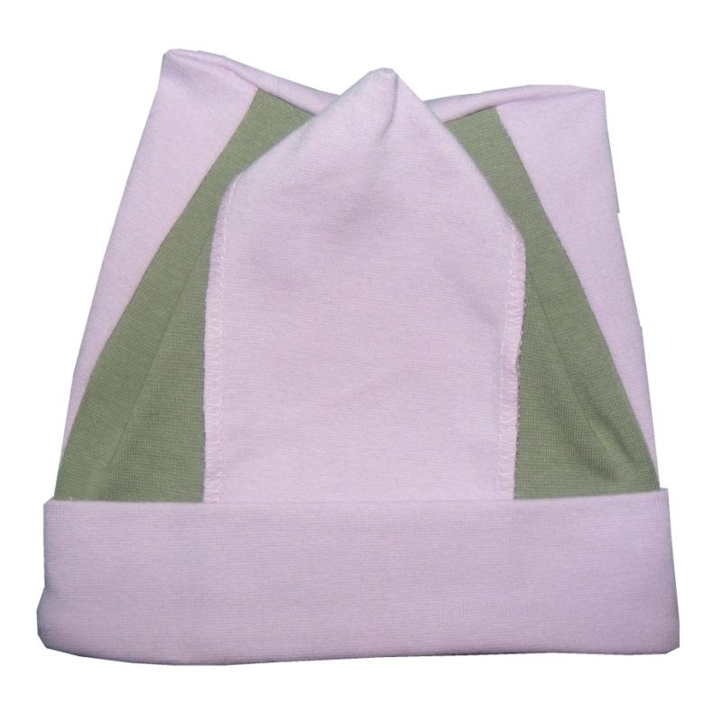 Dětská bavlněná čepice Pepa tm. růžová, vel. 48-50 cm