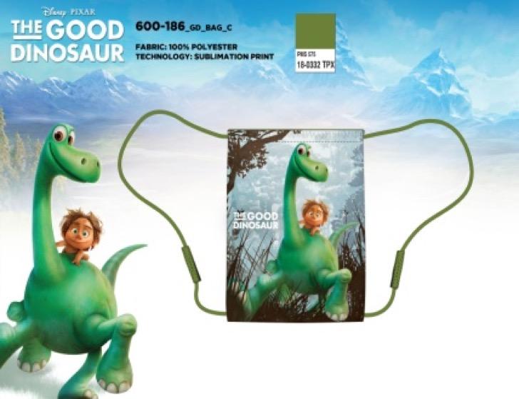 Setino 600-186 Sáček na přezuvky a tělocvik Hodný dinosaurus 40x32 cm