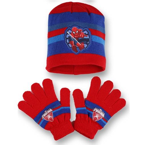 Setino 780-222 Dětský zimní set Spiderman červený