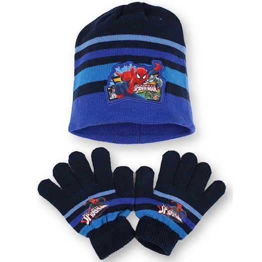 Setino 780-237 Dětský zimní set Spiderman tmavě modrý