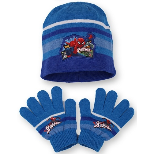 Setino 780-237 Dětský zimní set Spiderman světle modrý