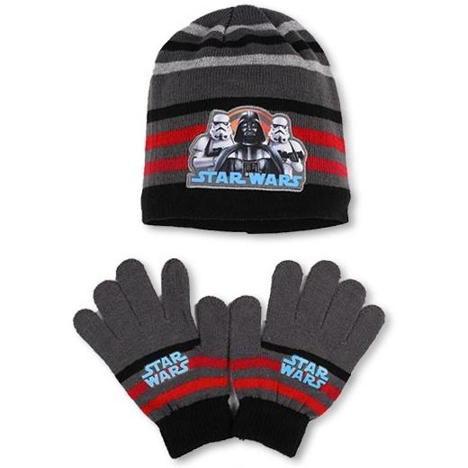 Setino 780-254 Dětský zimní set Star Wars šedý