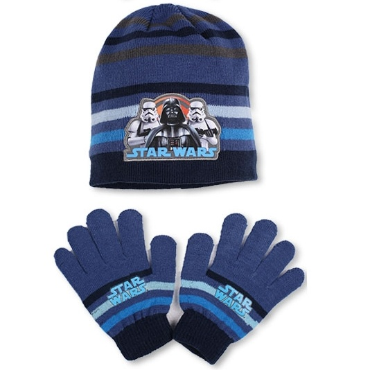 Setino 780-254 Dětský zimní set Star Wars modrý