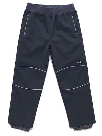 Dětské chlapecké softshellové kalhoty Wolf B2783 šedé, vel. 98