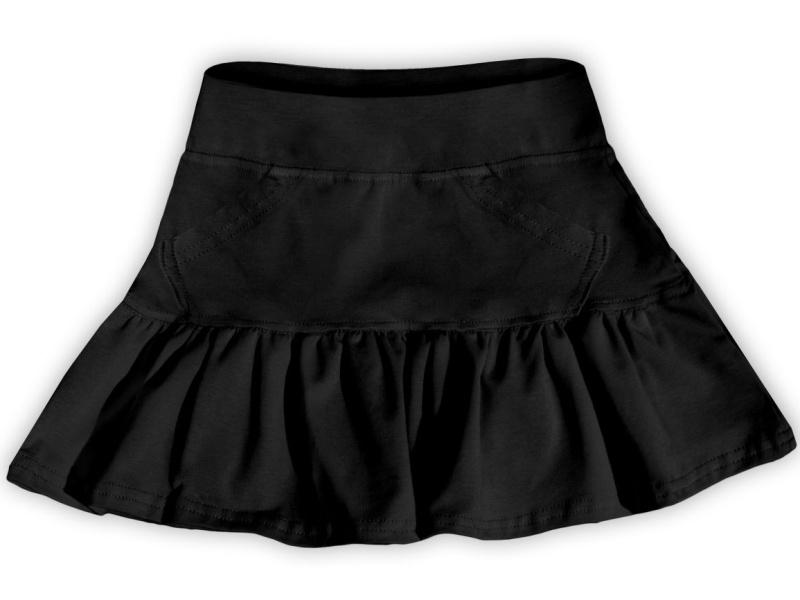 Dětská dívčí bavlněná sukně Jožánek černá, vel. 134
