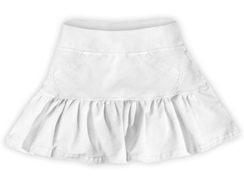 Dětská dívčí bavlněná sukně Jožánek bílá, vel. 134