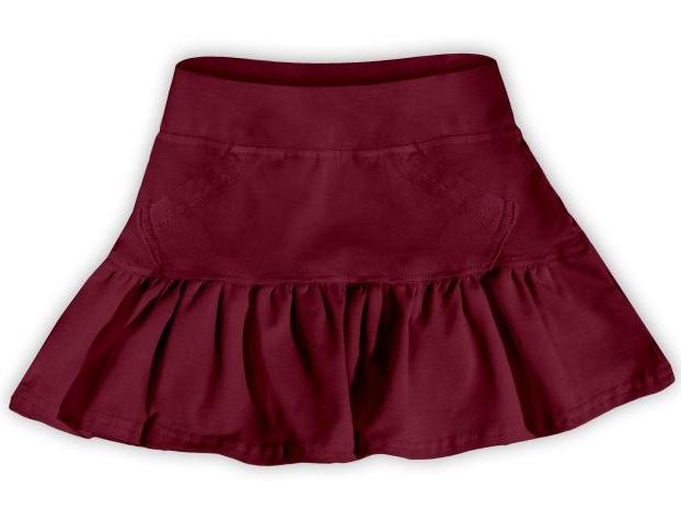 Dětská dívčí bavlněná sukně Jožánek bordó, vel. 134