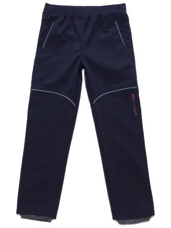 Dětské dívčí softshellové kalhoty Wolf B2782 modré, vel. 128