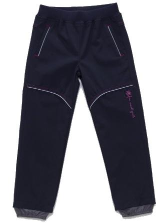 Dětské dívčí softshellové kalhoty Wolf B2781 modré, vel. 86