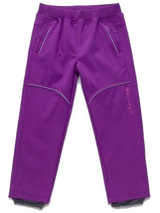 Dětské dívčí softshellové kalhoty Wolf B2781 fialové, vel. 86