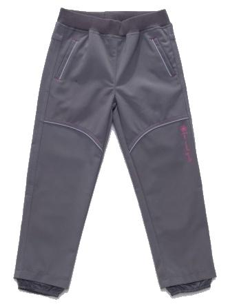 Dětské dívčí softshellové kalhoty Wolf B2781 šedé, vel. 86
