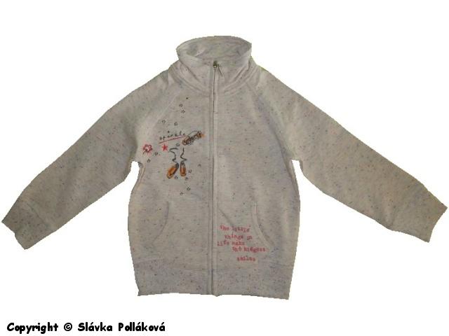 Dětská dívčí mikina Wolf M2542 melír, vel. 110