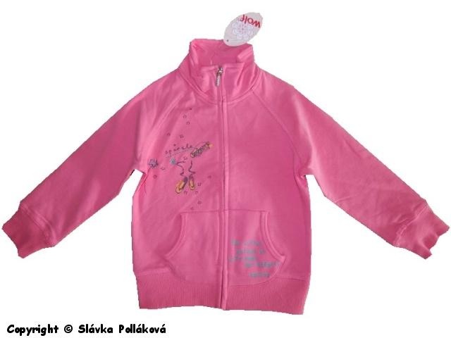 Dětská dívčí mikina Wolf M2542 světle růžová, vel. 98