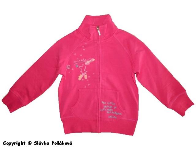 Dětská dívčí mikina Wolf M2542 tmavě růžová, vel. 98