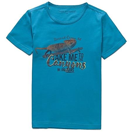 Dětské chlapecké tričko krátký rukáv Wolf S2701 petrolejové, vel. 128