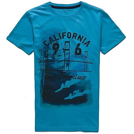 Dětské chlapecké tričko krátký rukáv Wolf S2703 petrolejové, vel. 140