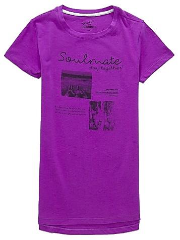 Dětské dívčí tričko krátký rukáv Wolf S2713 fialové, vel. 164