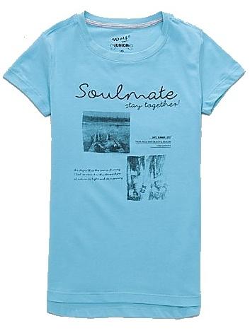 Dětské dívčí tričko krátký rukáv Wolf S2713 modré, vel. 164